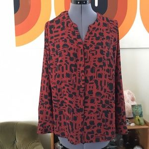 Cool abstract print blouse